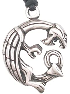 Llords Jewellery Infinity Serpent Snake Pendant Necklace, Fine Pewter Jewelry