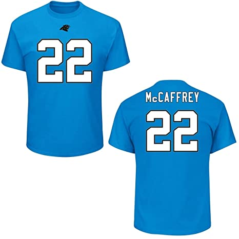 dd6d98453 Majestic Christian McCaffery Carolina Panthers Blue Big & Tall Name and  Number T-Shirt 2XL