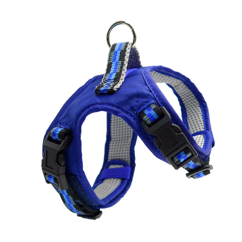 bluee S bluee S Dog Vest Harness, Pet Leash Chest Strap Supplies Thoracic Abdomen Strap Outing Traction Rope Large Medium Chain Collars Safety Buffer Cat Vest (color   bluee, Size   S)