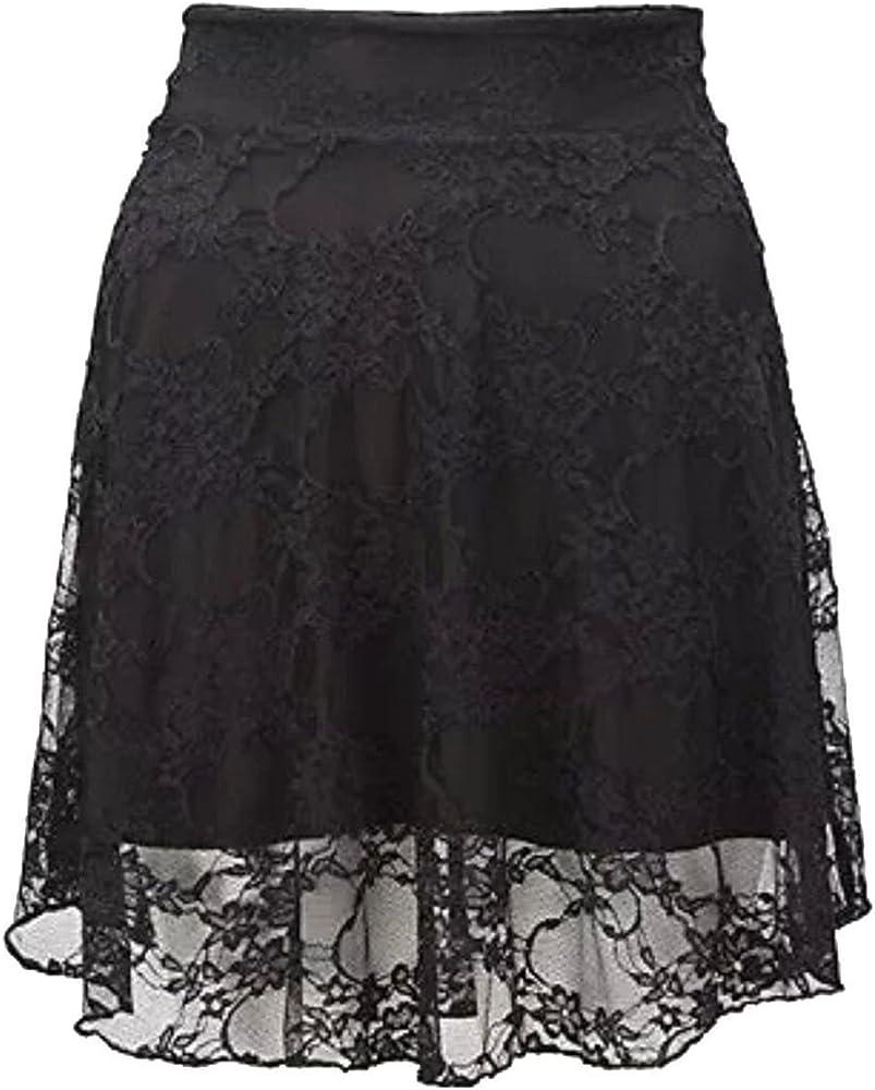 FASHION FAIRIES LTD Mini Falda de Encaje Floral Acampanado para ...