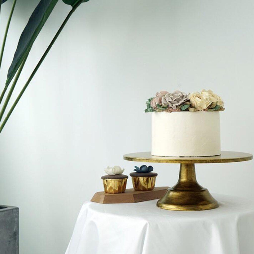 joyMerit Porte-g/âteaux Rond Porte-dessert Blanc Sur Pied Avec D/écoration De F/ête De Mariage 10 Pouces