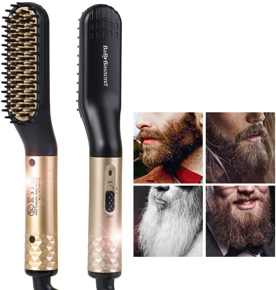 Peine de pelo liso para hombre, peinado de barba, peine, cerámica