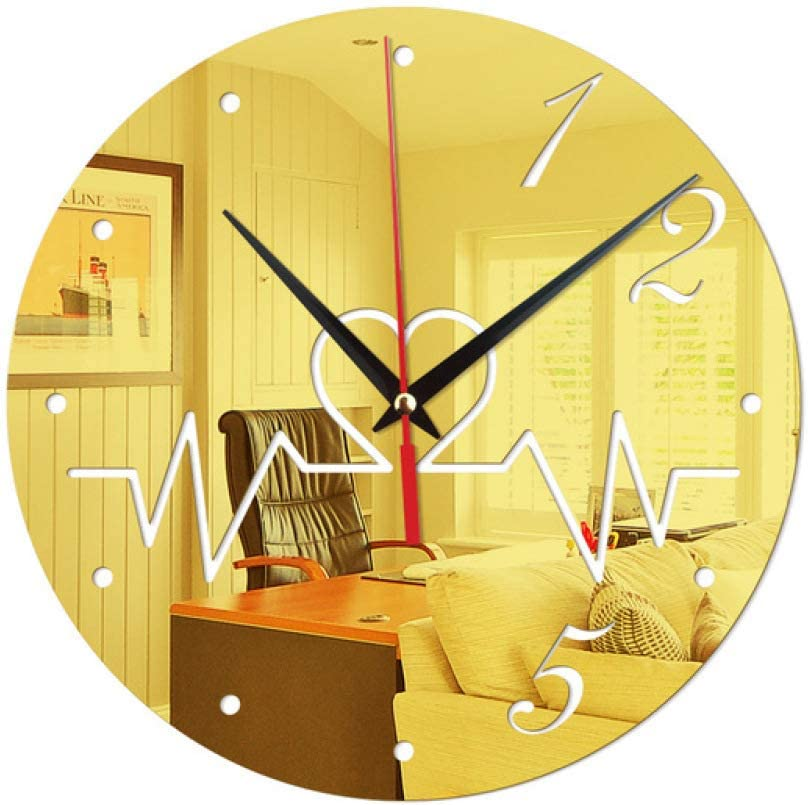 N A Wall Clock Kitchen Creative Wall Stickers Clock Heart Moment Wall Clock Acrylic Hanging Decoration Mirror Stickers Living Room Bedroom Wall Clock Suitable For Cafe Bars Home Kitchen