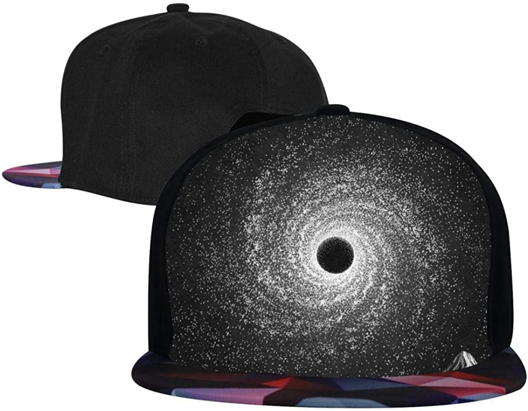 Fashion Baseball Cap for Men//Women Kicher Black Hole Hip Hop Cap Snapback Caps for Youth Adjustable Flat Brim Hat
