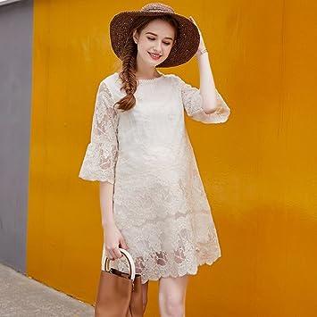 ZH Vestido de primavera y verano de maternidad, vestido de modelos de moda 2018,