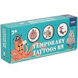 Socialme-EU Pegatina de Tatuajes Temporales con Caja de Regalo para Niños y Niñas con Más de 250 Patrones Tema Fiestas Navidad Princesa Tatuajes + Pegatina de Uñas(Viaje de Fantasía)
