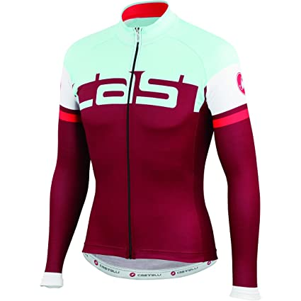 Castelli Unavolta Jersey FZ Bordeaux Azure Size M. Roll over image to zoom  in. RELATED VIDEOS  360° VIEW ... 3153e2820
