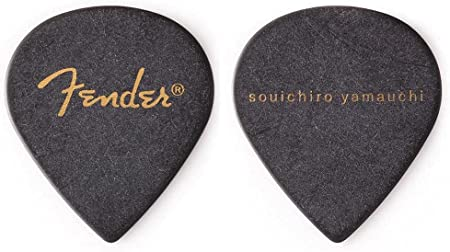Amazon _ 【6枚セット】Fender Artist Signature Pick Souichiro Yamauchi_山内総一郎 フジファブリック シグネチャー ギター ピック _ ギターピック _ 楽器