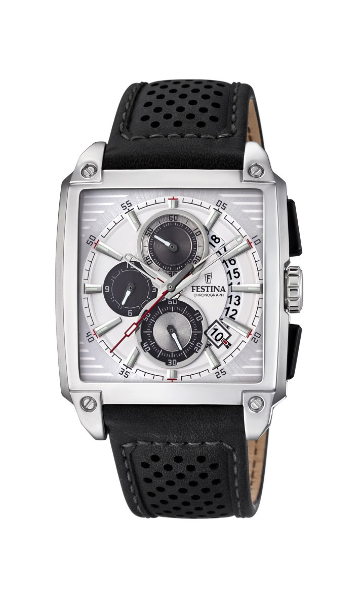 Men's Watch Festina - F20265/1 - Chronograph - Date - Leather Band