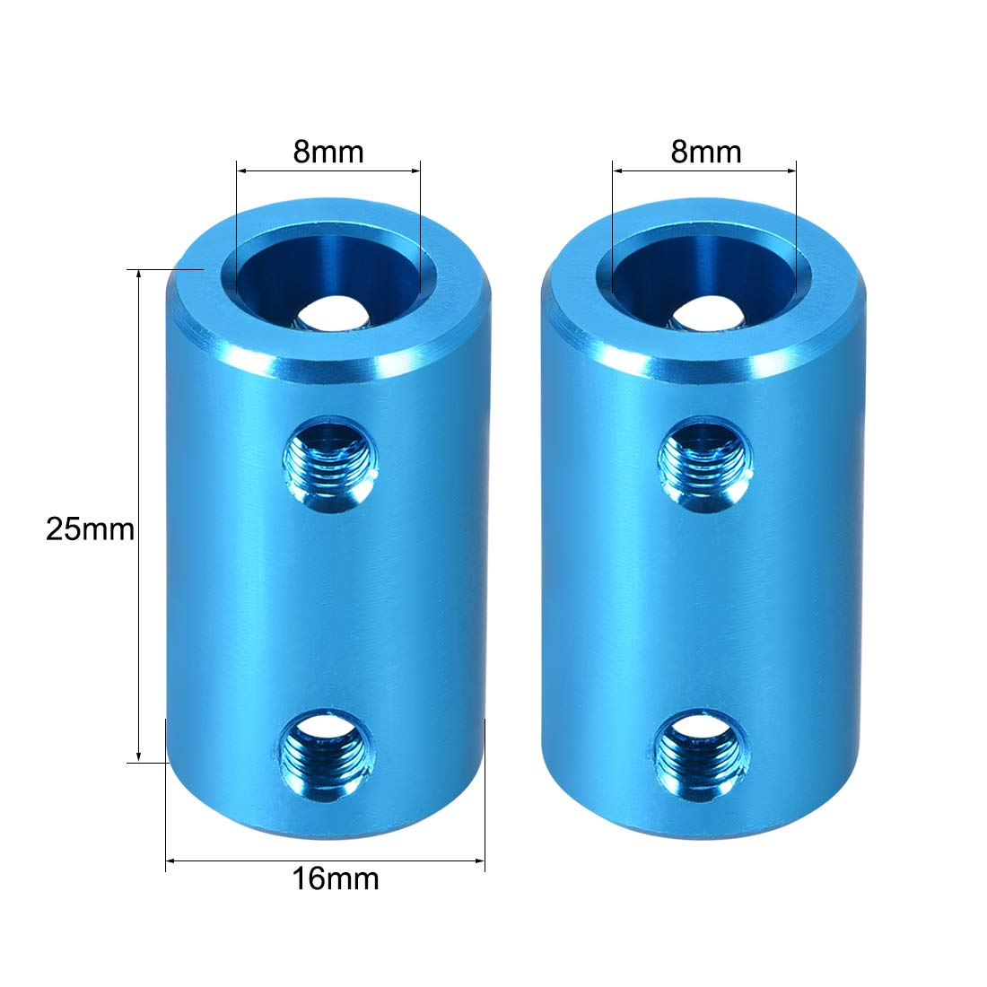 uxcell Shaft Coupling 8mm to 8mm L25xD14 Rigid Stepper Motor Wheel Coupler Connect Blue