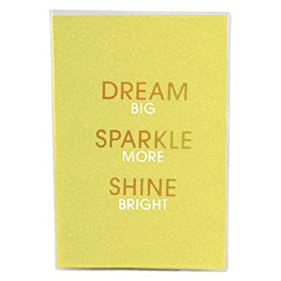 "iscream 'Dream Sparkle Shine' Metallic Glitter Cover Book-Bound Lined-Page 8.5"" Journal: Toys & Games"