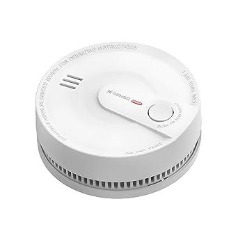 Detector de humo, alarma de humo mejorada con sensor fotoeléctrico, protección efectiva contra falsas