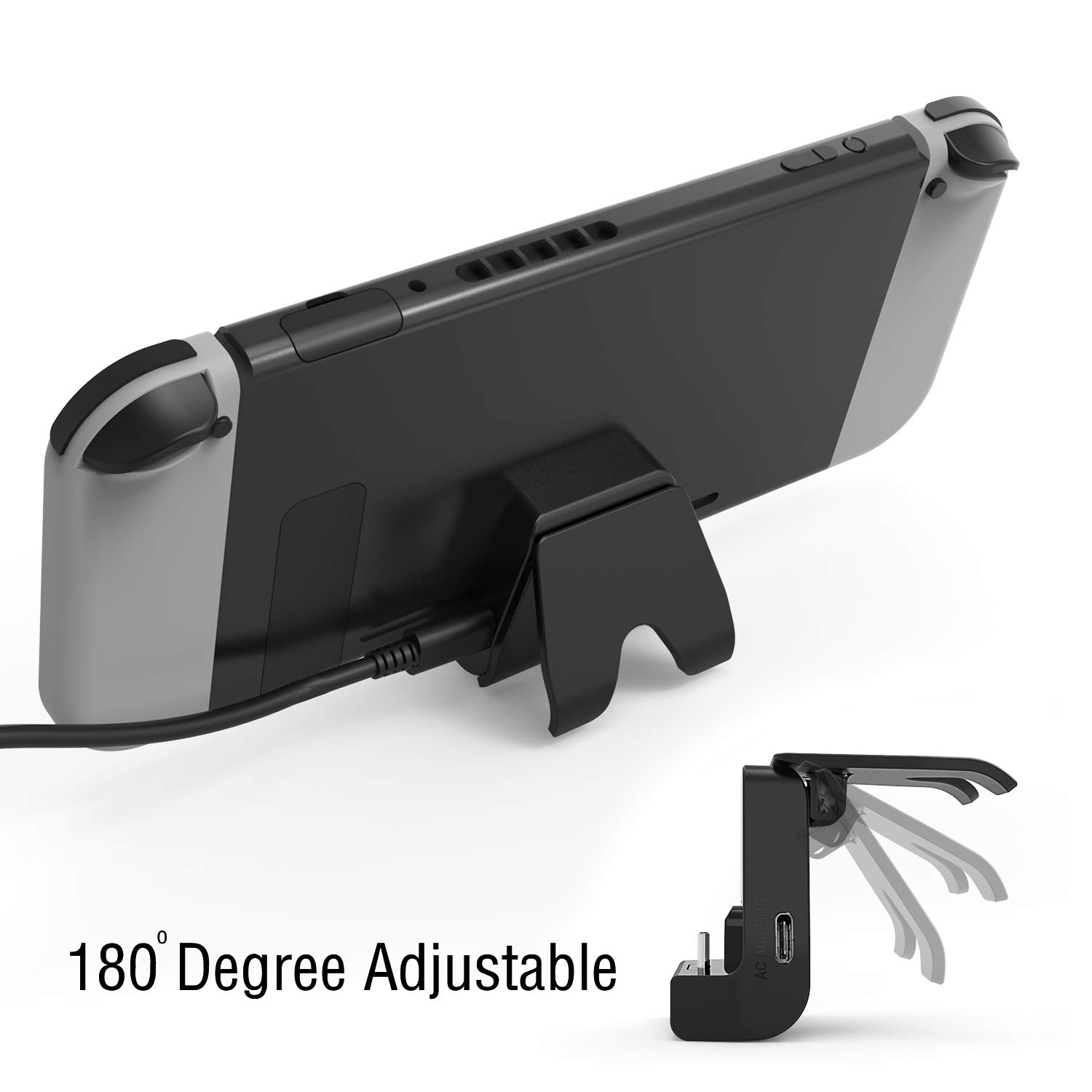 YCCSKY Versatile Adjustable Charging Stand Cradle Station Power Accessories for Nintendo Switch