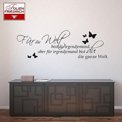 Wandtattoo Für die Welt bist du Schlafzimmer W152 (85x27 cm) pink ...