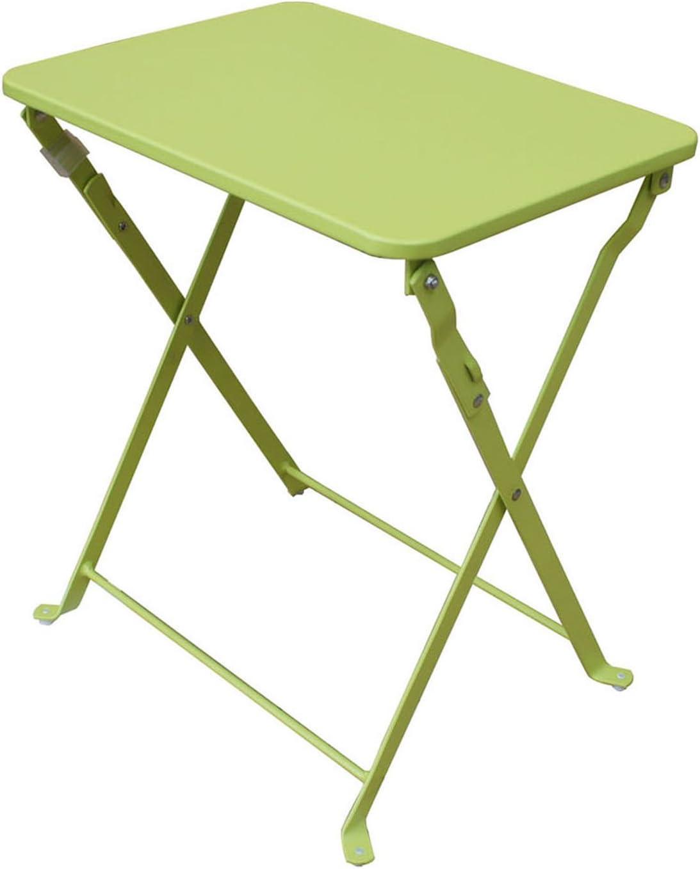 Pegane Table D Appoint De Jardin Pliante Coloris Vert Anis Dim