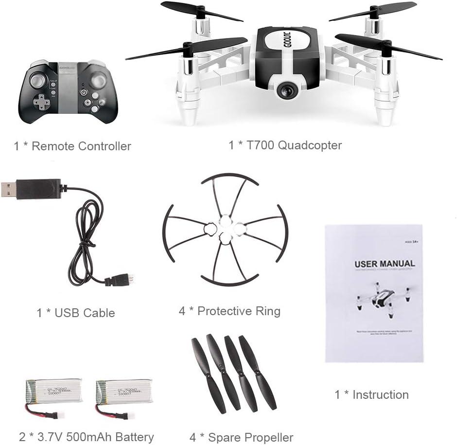 GoolRC Mini Drohne T700 mit 720P FPV Kamera RC Quadrocopter ...