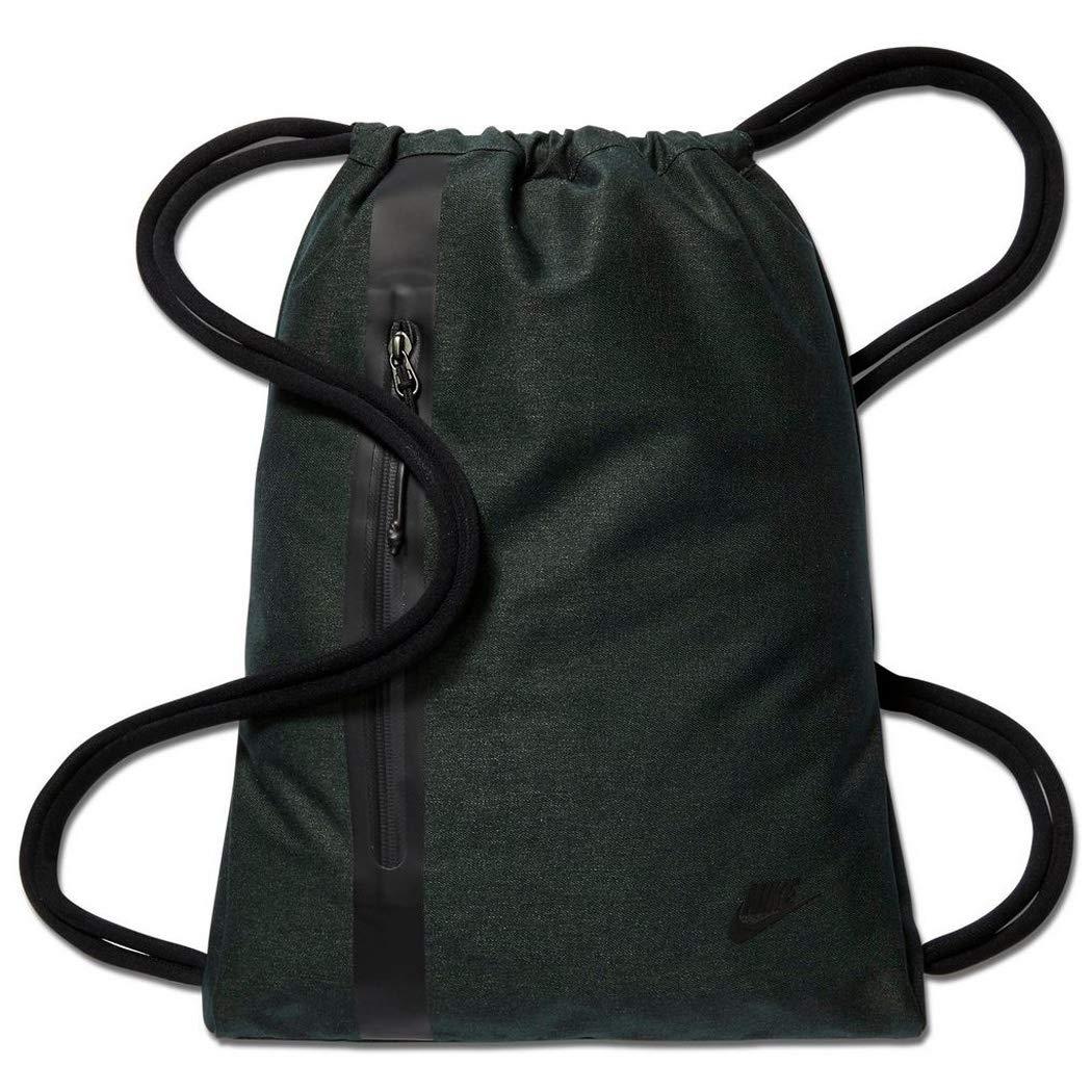 8cffd671efa Nike Unisex Tech Gymsack, Outdoor Green Black Black, Medium  Amazon.co.uk   Sports   Outdoors