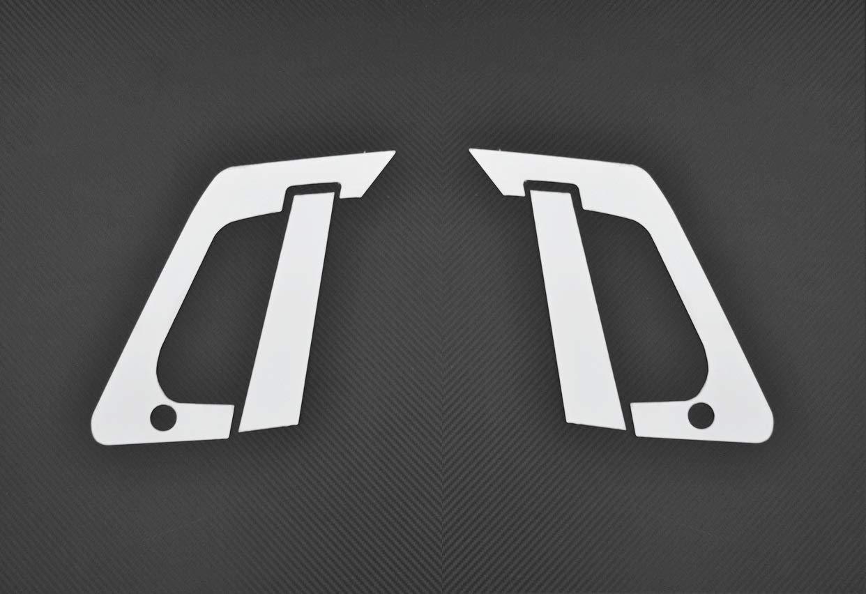 ESK Juego de 4 Cubiertas para manijas de Puerta de Camiones Serie T de Acero Inoxidable