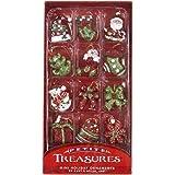 Petite Treasures Resin Holiday Miniature Ornament Set OF 12