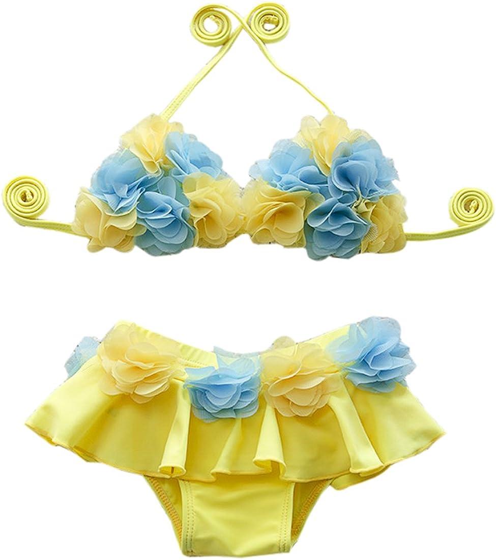 Ding Dong Kid Baby Girls Summer Floral Bikini Set