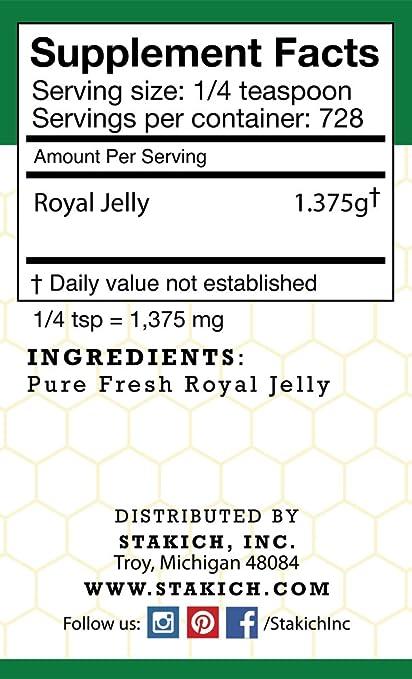 Amazon.com: stakich Fresh Royal Jelly – 100% pura, All ...