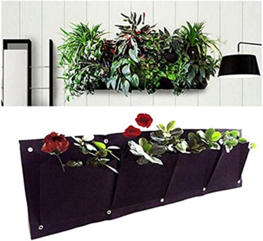NIVNI Cesta de Flores macetas de Hierro de Colores Cubo de Metal Colgante Macetas de Flores Decorativas