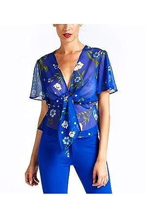huge selection of a755f 6138e Guess Camicia con Nodo: Amazon.it: Abbigliamento