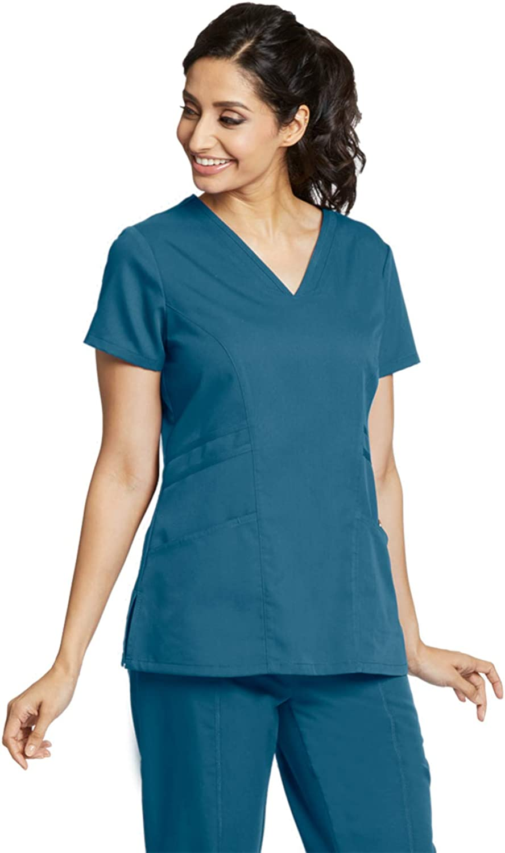 Greys Anatomy Ceil V-Neck Scrub Top 3 Pocket Ceil  # 41340  X-Small