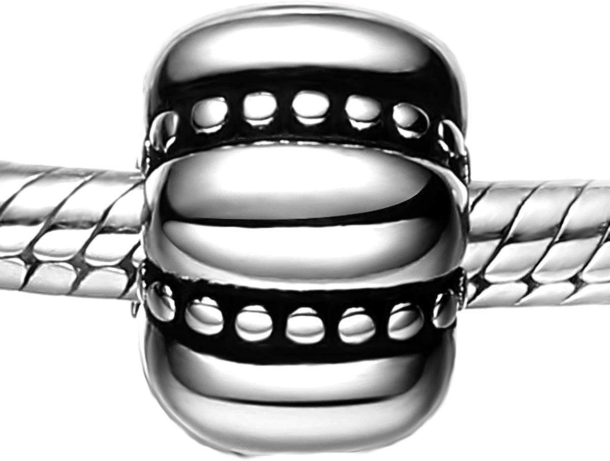 XY Bijoux Femme Argent Espaceur pour Bracelet Charms et Perles
