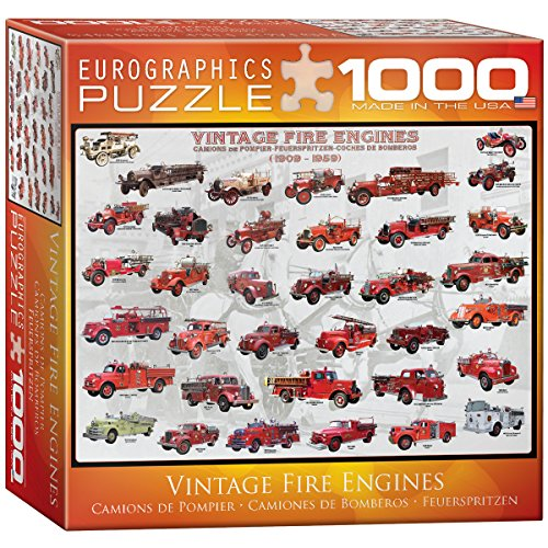 EuroGraphics Vintage Fire Engines Puzzle (Small Box) (1000-Piece) (Vintage Fire Engine)