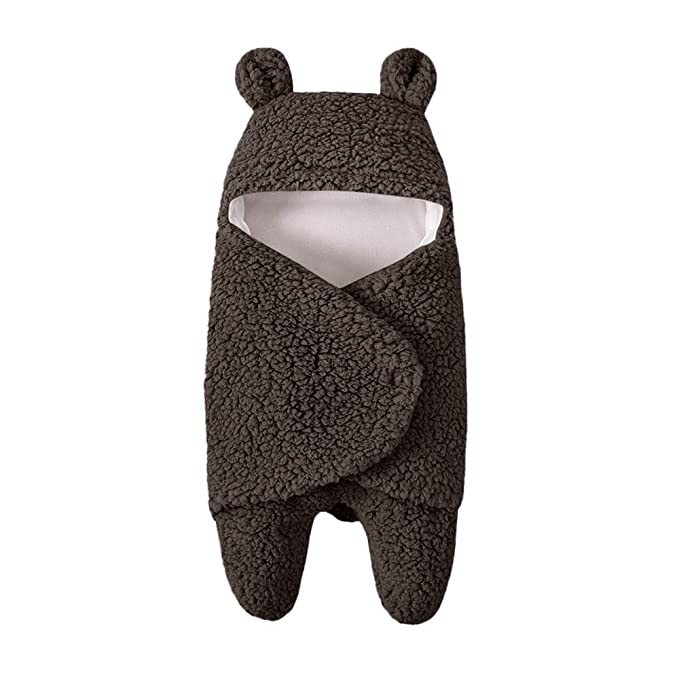 Mitlfuny Swaddle Wrap Saco de Dormir para Bebé Niños Invierno Grueso Pelo de Cordero Manto Envolvente