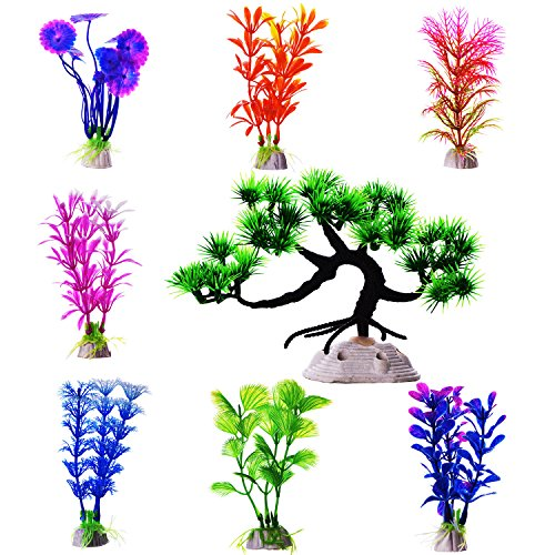 Mudder Artificial Aquarium Multicolor Decoration