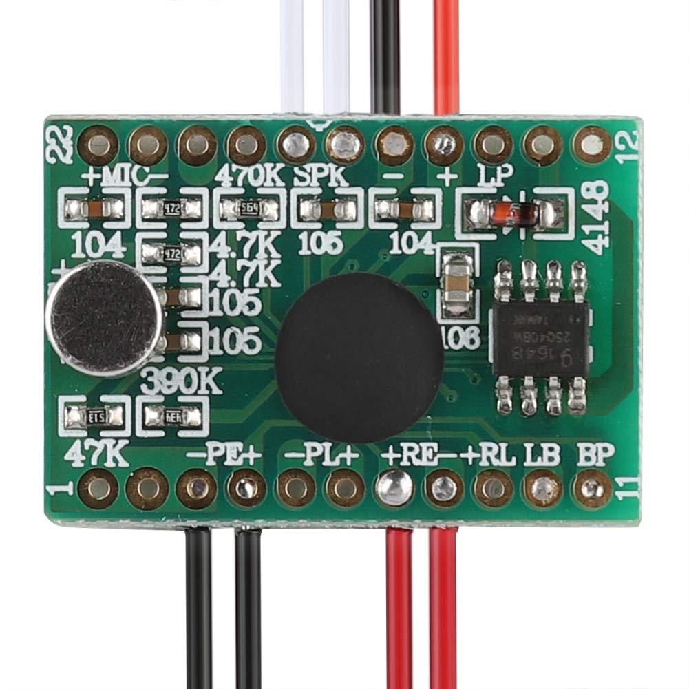 Chip di Registrazione Musicale,Registrazione Modulo Vocale 60 Secondi Audio Modulo per Biglietti di Auguri Vocali Riproduzione Registrabile Chip per Biglietti dAuguri Cavo Esteso 10CM