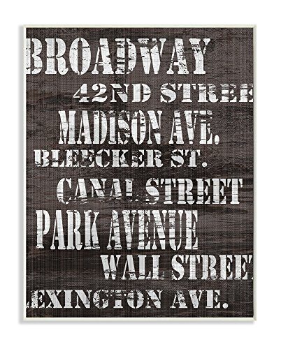 The Stupell Home Decor Collection Broadway Distressed New York City Streets Wall - Street York Scene New