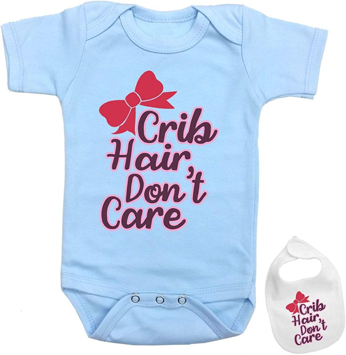 Crib hair don/'t care baby bodysuit