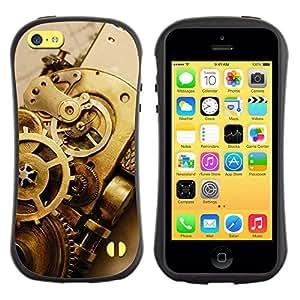 Paccase / Suave TPU GEL Caso Carcasa de Protección Funda para - Tech Watch Clock Metal Design Symbol Art - Apple Iphone 5C
