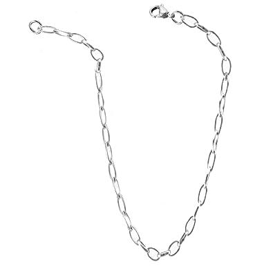 Ovalini - Cadena de acero inoxidable para hombre y mujer, 50 ...