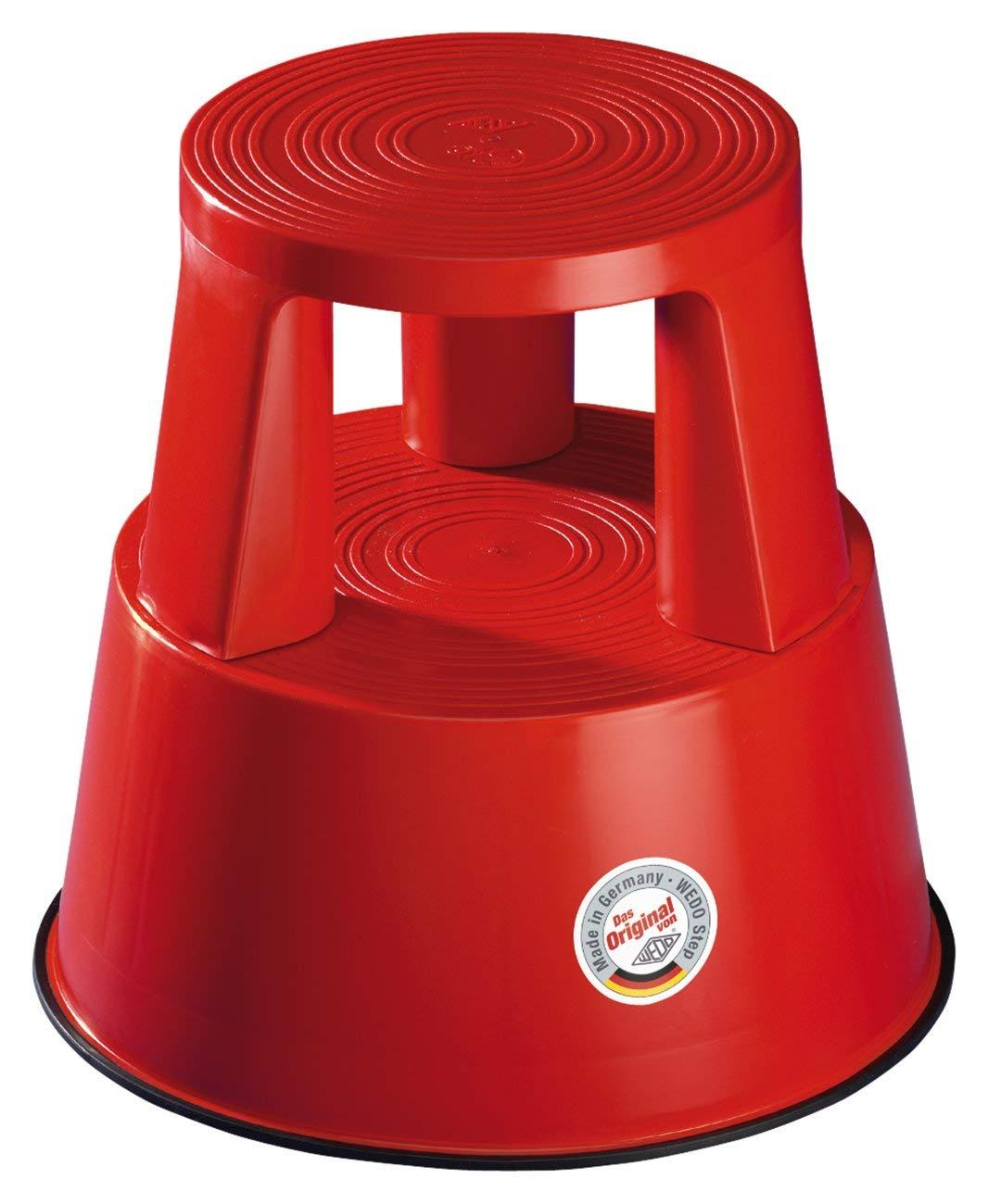 H/öhe 43 cm rot Tragkraft 150 kg Wedo 212202 Rollhocker Step aus Kunststoff