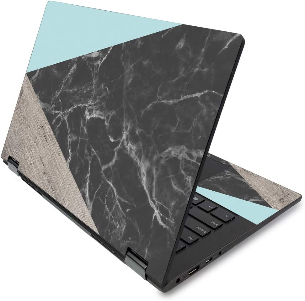 """MightySkins Skin for Lenovo Flex 14"""" (2019 No Fingerprint Scanner) - Wood and Marble 