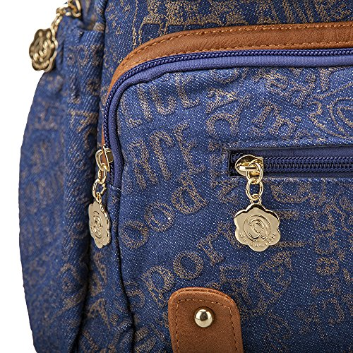Backpack Bag Backpack Cowboy Fashion Ms Rucksack by Camellia Girls Ladies For Shoulder t7qw7r4