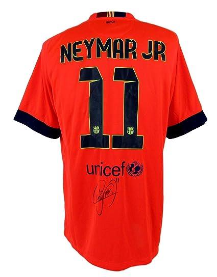 meet 7709a fad74 Neymar Jr Barcelona Autographed/Signed Nike Soccer Jersey ...