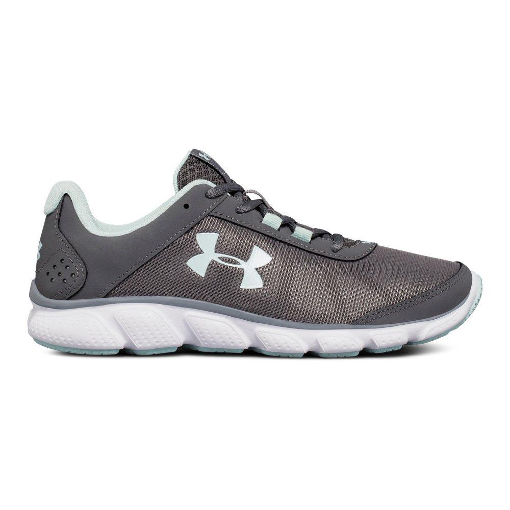 Under Armour Women's Micro G Assert 7 Running Shoe, Gray, 7