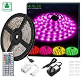LED Strip Light Waterproof MINGER 5m RGB SMD 5050 LED Rope Lighting Color Changing Strip