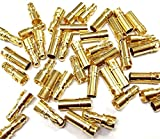 5 8 bullet plugs - JahyShow 40 Pairs 3.5mm Gold Banana Plug Bullet Connector Plug Male & Female for RC Battery ESC Motor