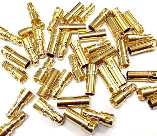 - JahyShow 40 Pairs 3.5mm Gold Banana Plug Bullet Connector Plug Male & Female for RC Battery ESC Motor