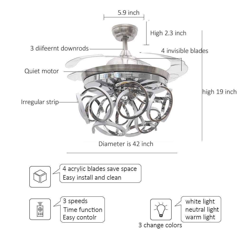 Amazon.com: TiptonLight - Lámpara de techo de cristal ...