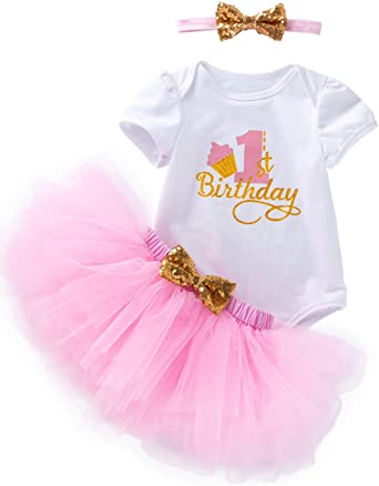 Detigee 4th July Newborn Baby Girl Tutu Skirt Sets Independence Day Outfit with Headband