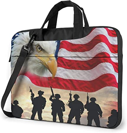 NEPower Laptop Tote Bag Sunset On Beach Lightweight Laptop Travel Bag with Strap Fits 13-15.6in Notebook for Men