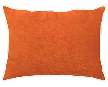 Apelt Kissen Tahiti Gefüllt Samt Orange Größe 30x40 Cm