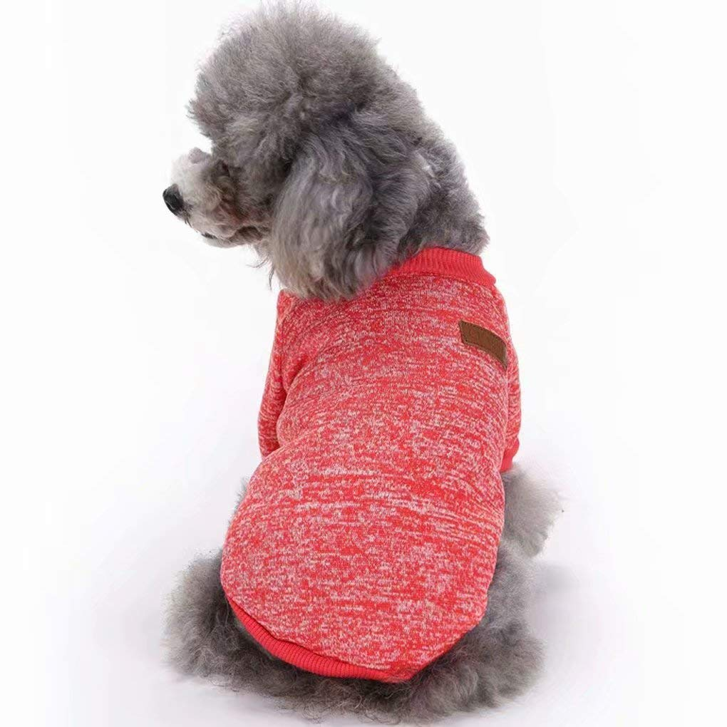 Dogs YUSENPET Pet Dog Puppy Classic Sweater Coat Tops Fleece Warm Winter Knitwear Clothes for Small Medium Dogs